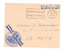 ÉCOLE DE SOUS-OFFICIERS DU SERVICE DE SANTÉ Flamme ORLEANS R.P. 1968  Franchise Militaire - Marcophilie (Lettres)