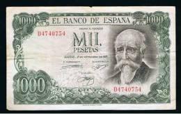BILLETE ESPAÑA -  1000 Pesetas 1971 - Sin Clasificación