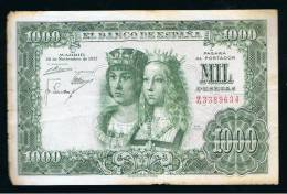 BILLETE ESPAÑA -  1000 Pesetas 1957 - Spagna