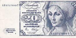 BOSNIEN, CROATIA  -  BON 20  DEM  -  MS WOOLMARK - Bosnien-Herzegowina