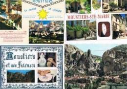 240213T Lot De 75 CPM Couleur Vierges Pour Courrier : Dep.04 (Alpes De Provence) : Moustiers - Cartes Postales