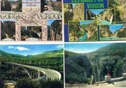 240213U Lot De 100 CPM Couleur Vierges Pour Courrier : Dep.04 (Alpes De Provence) : Gorges Du Verdon - Cartes Postales