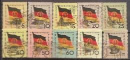 ALLEMAGNE,(DDR)DEUTSCHLAND,GERMANY,GERMANIA,ALEMANIA,SERIE COMPLETE,OBLITERE,YVER 438/47. - Oblitérés