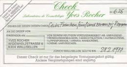 CHECK  -   6,25 FRANC  -  1977 - Hist. Wertpapiere - Nonvaleurs