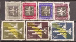ALLEMAGNE(DDR)DEUTSCHLAND,GERMANY,GERMANIA,ALEMANIA,SERIE COMPLETE,OBLITERE,YVERT,AERIENS 1/7. - Oblitérés