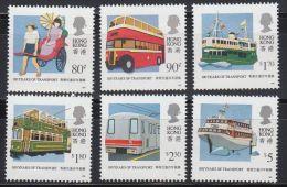 1991 Hong Kong / Centenary Of Public Transport 6v. Cars,autos,voitures,coche S,bus,tram,boat,coache  MNH - Transports