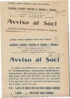 DC266-LOMBARDIA 1923 CREMONA CONSORZIO ESERCENTI PRESTINAI Di CREMONA E PROVINCIA-AVVISOai SOCI-lotto 2 PEZZI - Programme