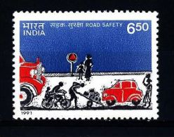 1991 India Traffic Safety 1v. Transport  Cars,autos,voitures,coche S  MNH - Verkehr & Transport