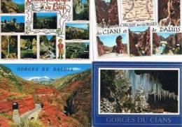 250213F Lot De 80 CPM Couleur Vierges Pour Courrier : Dep.06 (Alpes Maritimes) : Gorges Du Cians, Du Daluis, Du Loup - Cartes Postales