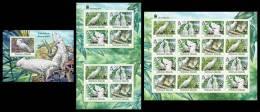 SOLOMON Isl. 2013 - WWF White Cockatoo. IMPERFORATED Complete Set - Birds