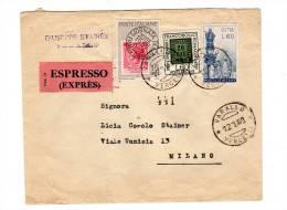 ITALIA 1960 ESPRESSO VARALLO>MILANO AFFR. TRICOLORE (B113) - 6. 1946-.. Repubblica