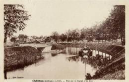 45- CHATILLON-COLIGNY- Vue Sur Le Canal Et Le Pont-   Péniche - Chatillon Coligny