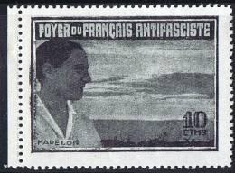 FOYER DU FRANÇAIS ANTIFASCISTE  Madelon 10 Cts ** - Verschlussmarken Bürgerkrieg