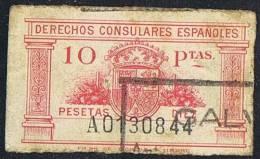 Derechos Consulares  10 Ptas  Usado - Fiscales
