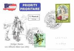 Austria 2008 ANK 2812 Mi. 2784 Sent FDC, St. Martin, Patron Landespatron Burgenland, Illustration Drawing Dürer - FDC
