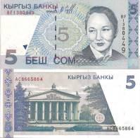 Kyrgyzstan P13, 5 Som, National Opera / Ballerina B. Beishenaliyeva - Kirgisistan