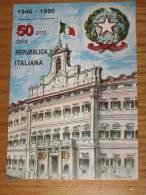 VERONA 08.11.1996  87^ VERONAFIL 50^ ANNUVERSARIO REPUBBLICA  AUTOGRAFATA CONSOLE MARCOFILIA ANNULLO SPECIALE - Verona