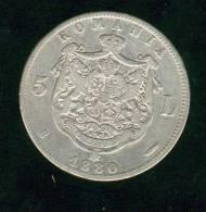 Argent,  Roumanie 5 Lei 1880 Carol 1er - Roumanie