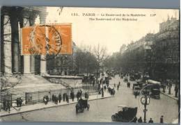 Paris - Le Boulevard De La Madeleine - France 1920s - Plätze