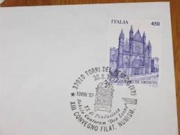 TORRI DEL BENACO 30.08.1997 XIII MANIFESTAZIONE FILATELICA IN ONORE DELLA SCHOLA CANTORUM MARCOFILIA ANNULLO SPECIALE - Brescia