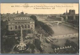 Paris - Panorama Pris Du Theatre Du Chatelet Vers Le Theatre Sarah-Bernhardt - France 1920s - Frankreich
