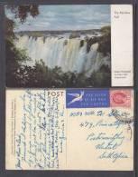 Southern Rhodesia, THE RAINBOW FALL,  USED 1957 - Zimbabwe