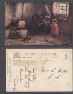 THE BUSY GUIDWIFE, Signed H.J.DOBSON; TUCKS 'OILETTE' - Illustrators & Photographers
