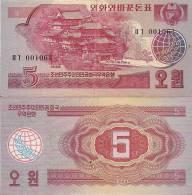 Korea, North, P36, 5 Won, Temple/olive Sprig $12.50 CV - Korea, North