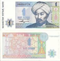 Kazakhstan P7, 1 Tenge, Muslum Scholar Nasral-Famabi In Turbin / Geometrical - Kazakhstan