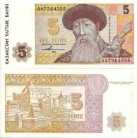 Kazakhstan P9a, 5 Tenge, Composer Kurmangaz / Mausoleum Complex $4CV - Kazakhstan