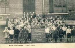 Pont-à-Celles - Ecole Saint-Joseph - Groupe Scolaire -Année 1908-09 ( Voir Verso ) - Pont-à-Celles