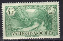 Andorre N° 63 * - Andorra Francese