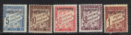 Andorre Timbre Taxe N° 1, 2, 3, 4, 6 * - Ungebraucht