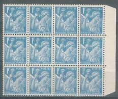 France 1944 - Bloc De 12 Valeurs - Type Iris 1f. Bleu Clair - Y&T N° 650 ** Neuf  ( Sans Charnière). - 1938-42 Mercure