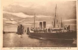 BATEAUX . PAQUEBOT . BOULOGNE SUR MER ( 62 ) Service Des Voyageurs Boulogne - Folkestone - Paquebots