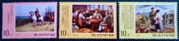 SCENES DE LA VIE DE KIM IL SUNG 1974 - NEUFS ** - YT 1271/74 - MI 1322/25 - Corea Del Nord