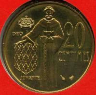 Monaco 20 Centimes 1995 BU GAD 147 KM 143 - 1960-2001 Nouveaux Francs