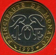 Monaco 10 Francs 1995 BU GAD 160 KM 163 - 1960-2001 Nouveaux Francs