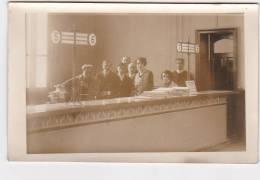 Cpa Carte Photo BRIEULLES SUR BAR Intérieur Bureau De Poste Receveur Et Postière Postier - France
