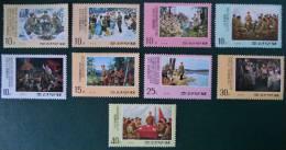 SCENES DE LA VIE DE KIM IL SUNG 1975 - NEUFS ** - YT 1368/76 - MI 1356/64 - Corea Del Nord