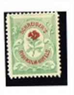 MP 34 - TIMBRE D'HOTEL De 1885 SCHREIBER'S RIGI-KULM-HOTELS Illustration Flore Neuf** - 1882-1906 Armoiries, Helvetia Debout & UPU