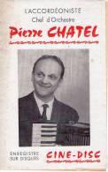 Dépliant - L'accordéoniste Pierre CHATEL - Accordéon Ciné Disc - MOSNAY (Indre) - Plakate & Poster