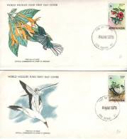 Lot De 2 FDC WWF Jacobin Hummingbird Et Blue Faced Booby Du 8 Mar 1978 - Grenade (1974-...)