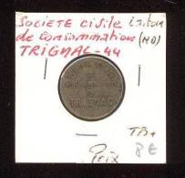 Jeton De La Société Civile De Consommation De 10 Centimes  - Trignac (44) - Monetary / Of Necessity