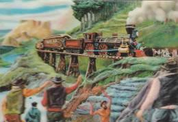 21858 Carte Sargenor, Cheval D'acier D'après G Sainte-croix, Train Cowboy, Relief - Trains