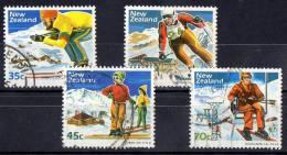 New Zealand 1984 Skiing & Scenery Set Of 4 Used - New Zealand