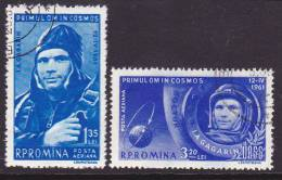 Space Rocket  Satalite Romenie Romina  1961  Mi.nr. 1962+1963   Used   Gagarin - Space
