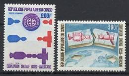 Congo 1974 Space Apollo - Soyuz Set Of 2 MNH - Space