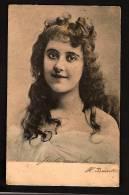 Cpa Portrait De Jeune Femme Cheveux Lâchés Bouclés -  French Woman 1903 - Précurseur - Femmes
