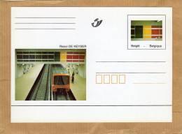 Oeuvre Du Métro Bruxelles Belgique Halleport De Raoul De Keyser Carte Entier Postal - Metro